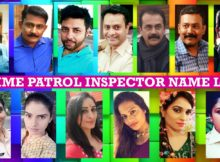 Crime Patrol Inspector Name List