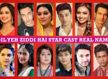 Dil Yeh Ziddi Hai Star Cast Real Name